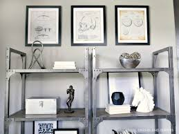 rustic modern office. Sports Patent Prints Hung In Rustic Home Office Modern E