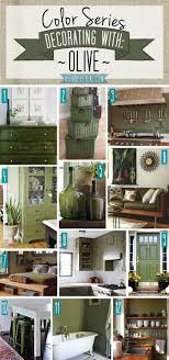 Color Series; Decorating with Olive