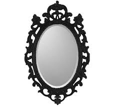Image Baroque View Full Size Decorpad Black Ornate Frame Mirror Look Less