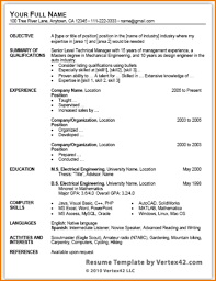 Word Resume Template Professional Location Ms Office Templates