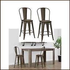 metal counter height stools. Image Is Loading Rustic-Bar-Stools-Set-of-2-Industrial-Wood- Metal Counter Height Stools I