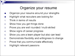 How To Organize Your Resume Business Communications Lecture 24 And 24 Communicating Through A 22