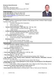 Esl Resume Hamdy's Resume ESL 20
