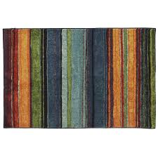 mohawk home carnival stripe blue indoor inspirational throw rug common 2 x 4