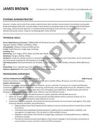 Sample Resume For Experienced System Administrator Best of Sample Resume Systems Administrator Done By Café Edit R