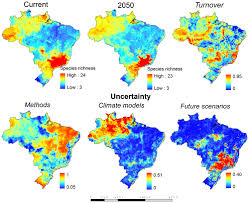 Geographic Patterns Beauteous Consensus Map Of Marsupial Species Richness In Brazil For Current