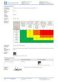 Incident Hazard Report Form Template Free Resume Example Ohs
