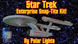 polar lights star trek enterprise snap tite model kit