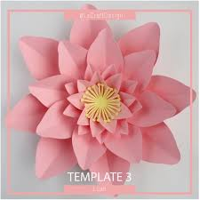 How To Make Big Lotus Flower From Paper Paper Flower Template Pdf Paper Flower Diy Paper Flower Etsy
