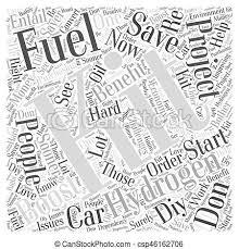 Cloud Saver Hydrogen Fuel Boost Kit Fuel Saver Word Cloud Concept