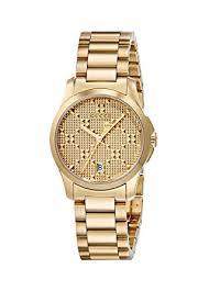 gucci quartz watch. gucci swiss quartz and stainless-steel dress gold-toned women\u0027s watch(model: watch
