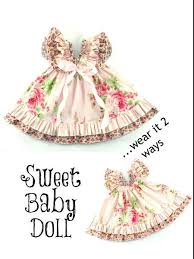 Baby Dress Patterns Mesmerizing Sweet Baby Doll Dress Sewing Pattern Whimsy Couture Sewing