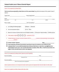 Application For Leave Form Impressive 48 Leave Letter Formats Sample Templates
