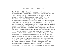 solutions to the problem of evil the problem of evil states that document image preview