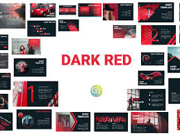 Powerpoint Theme Templates Free Dark Red Free Powerpoint Template By Giant Template On