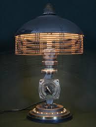 steampunk lighting. Steampunk Vintage Lamp Industrial Table Art Brass Pressure Antique Gauge |  EBay · Large Desk 3 Black Iron Pipe Steampunk Lighting