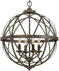 lakewood antique silver iron sphere pendant light 20 wx24 h