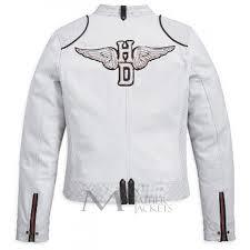 harley davidson motorcycle cottonwood women white jacket