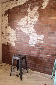 DIY Faux Brick Wall Map-3