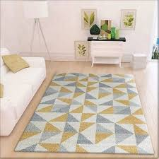 modern geometric rug cream grey and yellow pattern carpet large living room mat