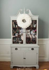 painted dining room hutch with chalk