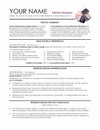 Interior Designer Resume Sample Graphic Designer Resume Sample Word Format Awesome Interior Interior 10