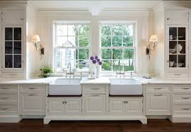 traditional white kitchen ideas. Kitchen Ideas.Dreamy With Sconces Flanking Two Apron Sink. Sinks Alcove Traditional White Ideas H