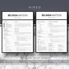 Minimalist Resume Template Word Professional Resume Template Minimalist Resume MS Word Resume 19