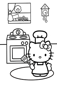 Small Picture hello kitty cookingjpg 567850 Coloring Hello Kitty