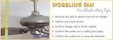 unbalanced wobbly ceiling fan troubleshooting tips