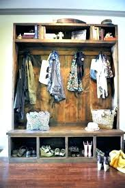 Mudroom Bench And Coat Rack Custom Entryway Coat Rack And Storage Bench Entryway Coat And Shoe Rack