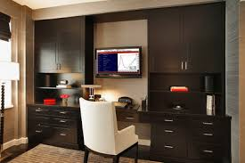 contemporary home office furniture tv. Dark Wall Cabinets Furniture And Monitor TV In Small Modern Home Office Interior Design Ideas Contemporary Tv F