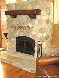 wood fireplace rustic mantle california