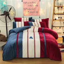 sports style bedding sets sham thick flannel duvet cover set winter warm bedsheet queen king size bed set duvet covers duvet covers for from