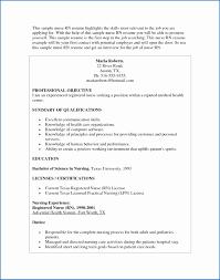 Charge Nurse Resume Inspirational Nursing Resume Examples