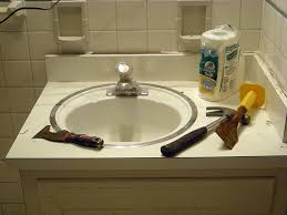 bathroom sink refinishing nashville before