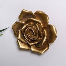 large gold rose wall art
