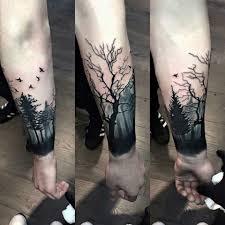Arm Tattoo Forest Tattoo Tree Tattoo Dark Tattop Manly Tattoo