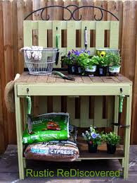 Potting Bench Plans Rustic Rediscovered Pallet Potting Table My First Build