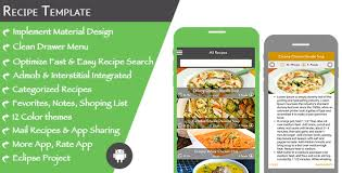 Food Recipe Template Multi Purpose Recipe Template For Android By Expresstemplate