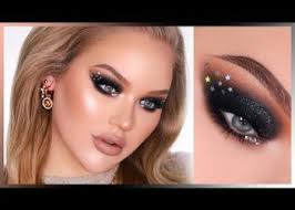 sparkly black nye smokey eyes in depth makeup tutorial