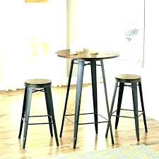 small black pub table and chairs bistro set style round medium furniture agreeable bl