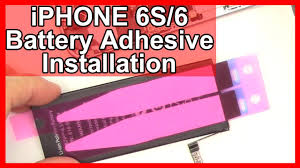 How to iPhone 6S/6 Battery Adhesive Installation and Replacement ...
