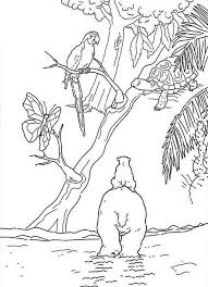 Small Picture Lars the Little Saw a Parrot on a Tree Polar Bear Coloring Pages