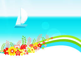 Summer Powerpoint Templates Summer Day With Flowers Powerpoint Templates Blue Flowers