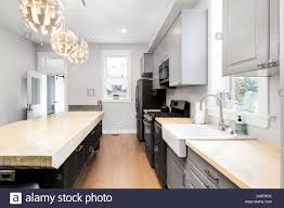 Light Cabinets Light Floors A Large Luxury Kitchen In A Chicago Flat With Grey Cabinets