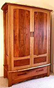 Mission Style Bedroom Furniture Plans Bedroom Enrich Your Space With Armoire Closet With Brown Wooden