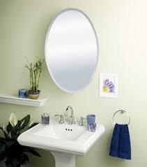 Oval Mirror Medicine Cabinet Furniture Excellent Oval Framed Bathroom Mirror And Bathroom