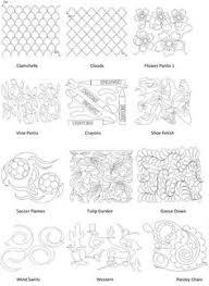 Pantograph patterns and continuous line block patterns | Quilting ... & Pantograph patterns and continuous line block patterns | Quilting |  Pinterest | Patterns, Free motion quilting and Machine quilting Adamdwight.com