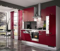 Small Modern Kitchen Kitchen Minimalist Colorful Kitchen Decor Ideas With Red Small